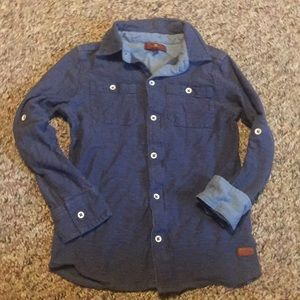 7 for All Mankind Boys Youth Size 7 Button down